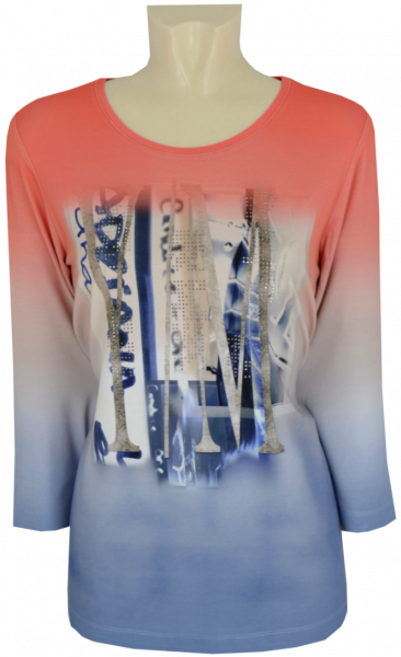 3/4 Arm T-Shirt mit Glanz