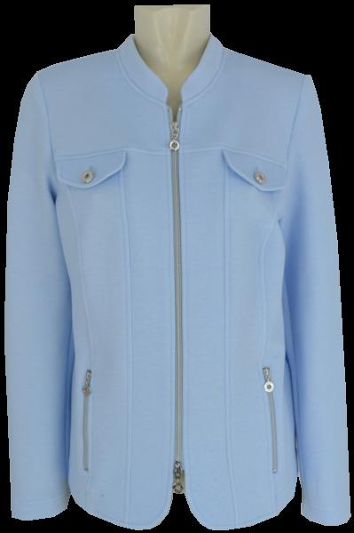 Jersey Blazer-Jacke in bleu