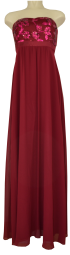 Ballkleid lang in dark burgundy