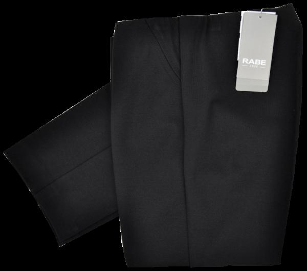 Schmal geschnittene Jersey Hose ohne Bund in schwarz