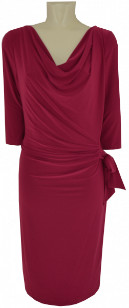 Mittellanges Jesey Kleid in ruby red