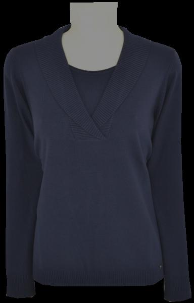 Pullover mit 1/1 Arm in marine-blau