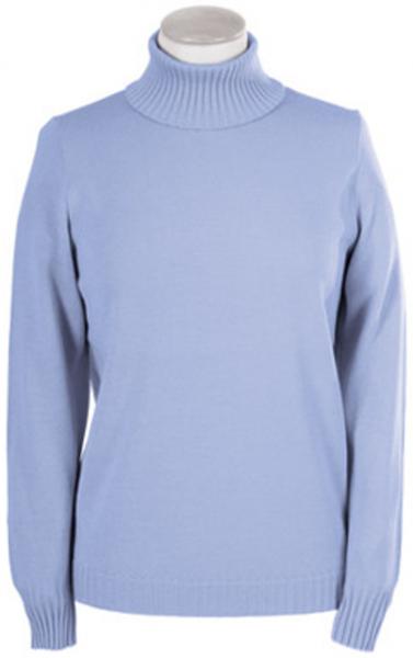 Pullover mit Stehbund in bleu