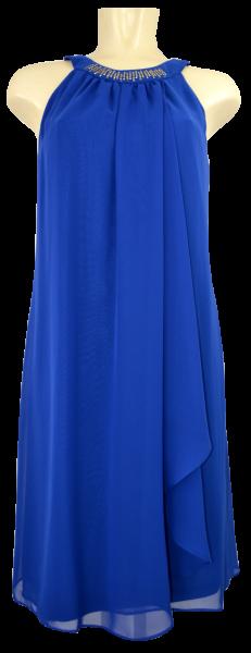 Mittellanges Kleid in Cobalt Blau