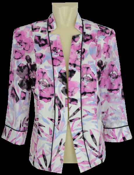 Jacke festlich in mehrfarbig mit pink gemustert
