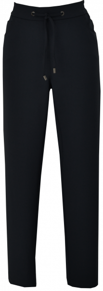 Schwarze Stoffhose mit Kordel