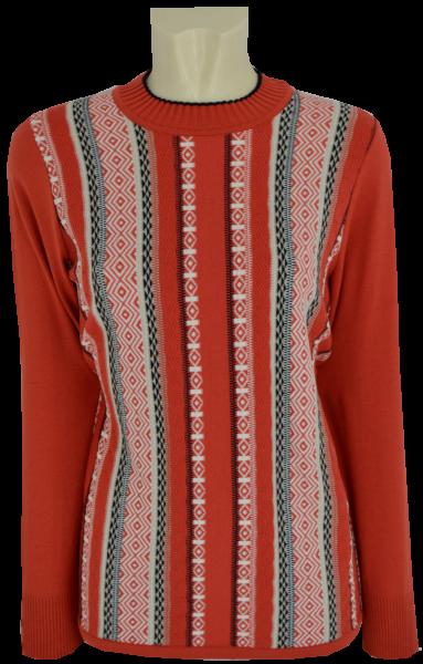 Pullover mit Stehbund in mehrfarbig gemustert