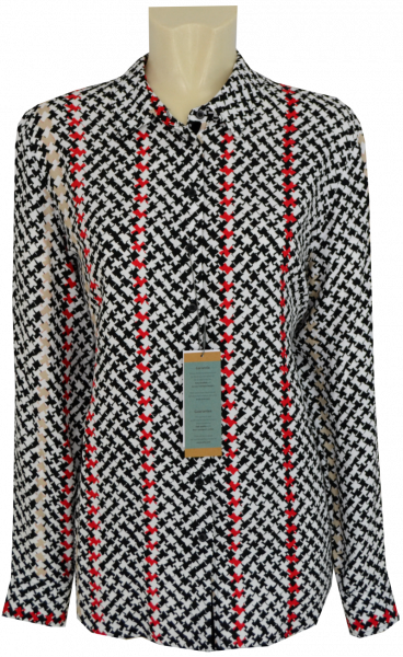 1/1 Arm Bluse in allover gemustert