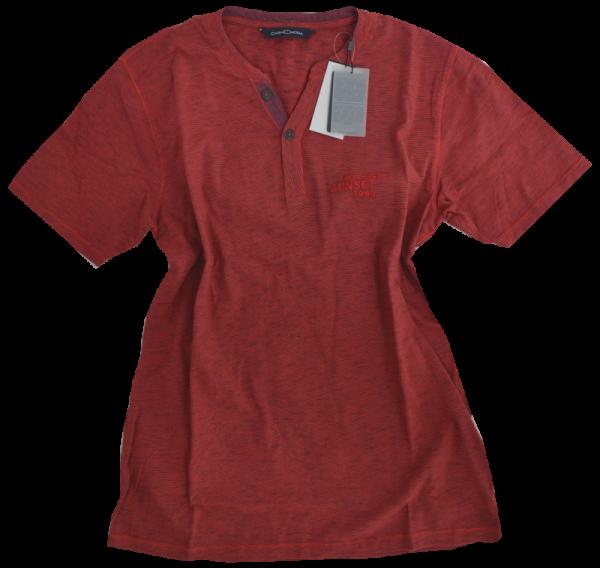 1/2 Arm T-Shirt in rot meliert