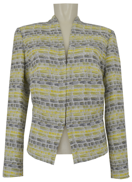 Blazer Jacke in allover citrus gemustert