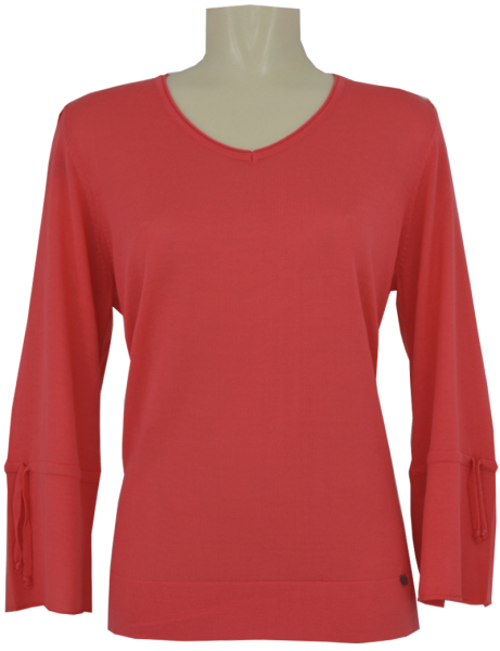 Leichter Pullover mit 3/4 Arm in red-pink