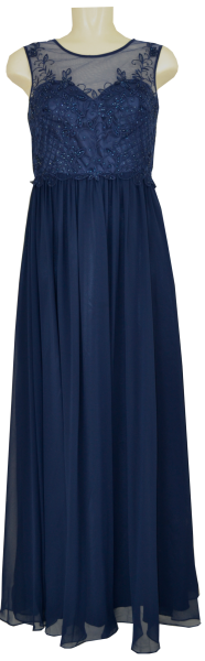 Langes Ballkleid in deep blue
