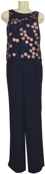 Jumpsuit in dark blue/kupfer