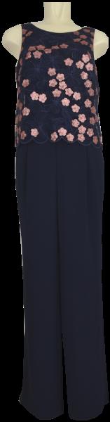 Jumpsuit in dark blue/kupfer