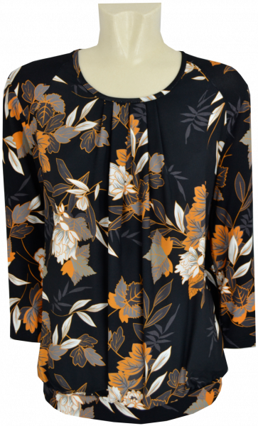 3/4 Arm Shirt in allover floral gemustert