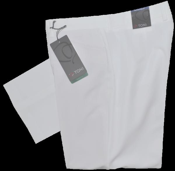 Leichte Stoffhose in weiß