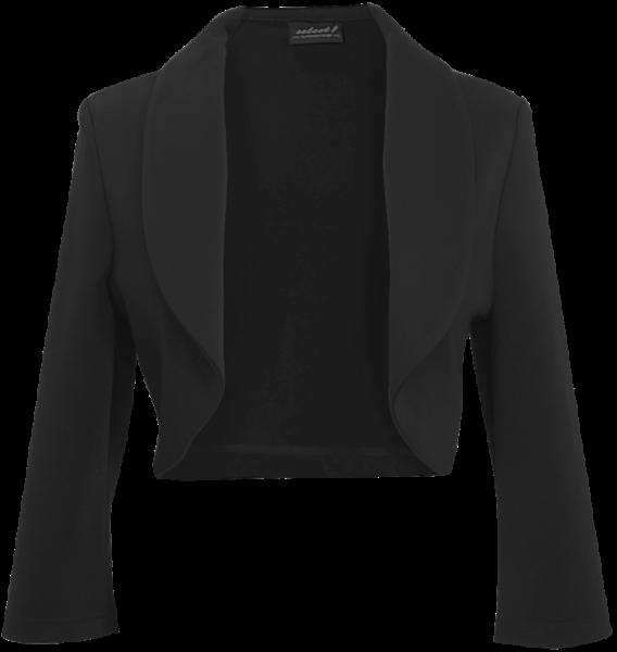 Bolero Jacke mit Stehkragen in schwarz