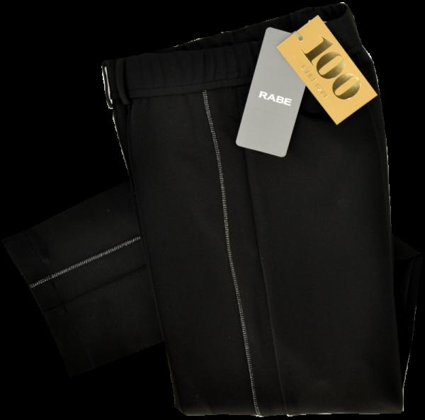 Schwarze Hose mit Ziernaht