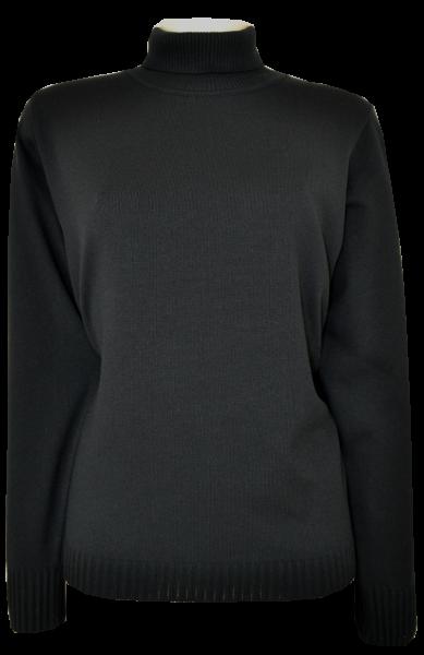 Antiallergischer Pullover mit Rollkragen in schwarz