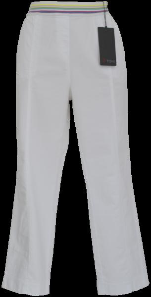 3/4 lange Jogpant in weiß