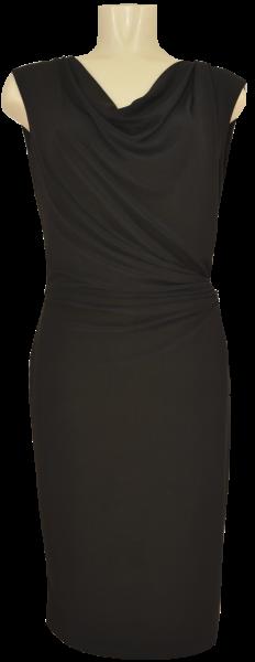 Mittellanges Jesey Kleid in jet black