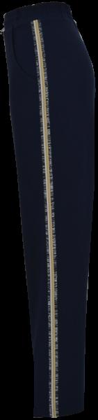 Hose mit Ziernaht in marine