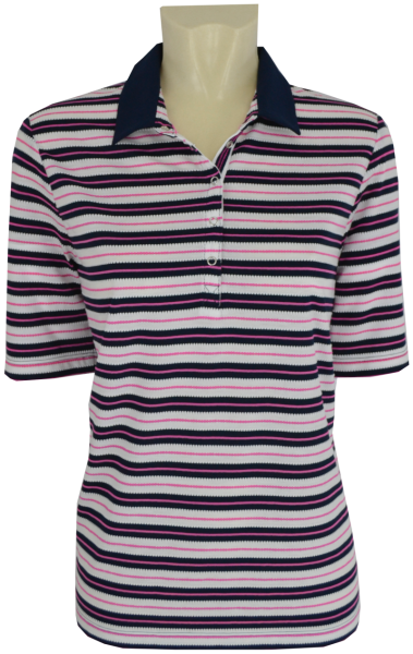 1/2 Arm Polo Shirt in geringelt