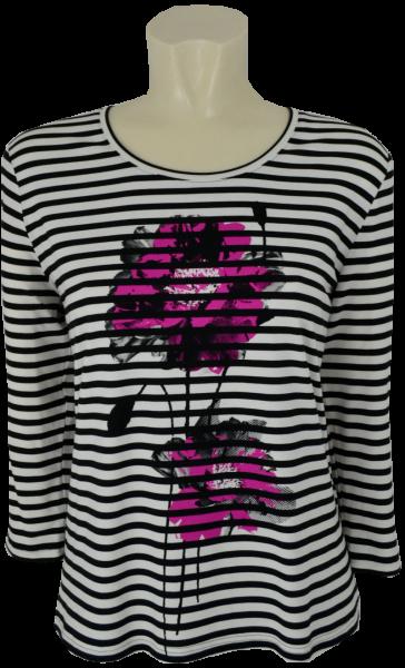 3/4 Arm T-Shirt in geringelt