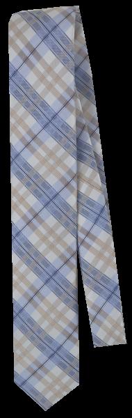 Seidenkrawatte in blau-weiß gemustert