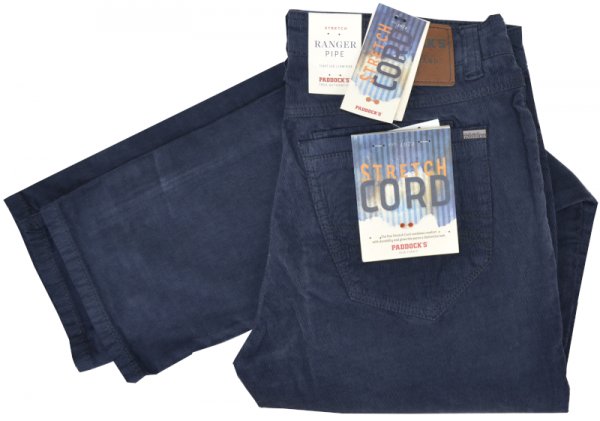 Cord Jeans RANGER PIPE in low rise blue