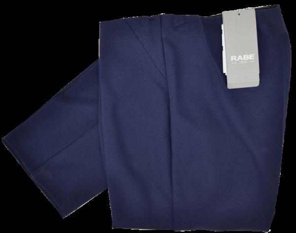 Schmal geschnittene Jersey Hose ohne Bund in marine
