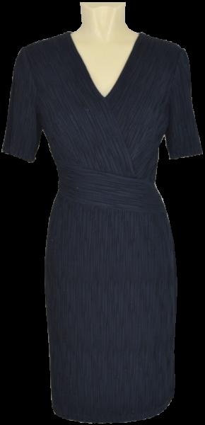 Mittellanges Jersey Kleid in night mit Glanz