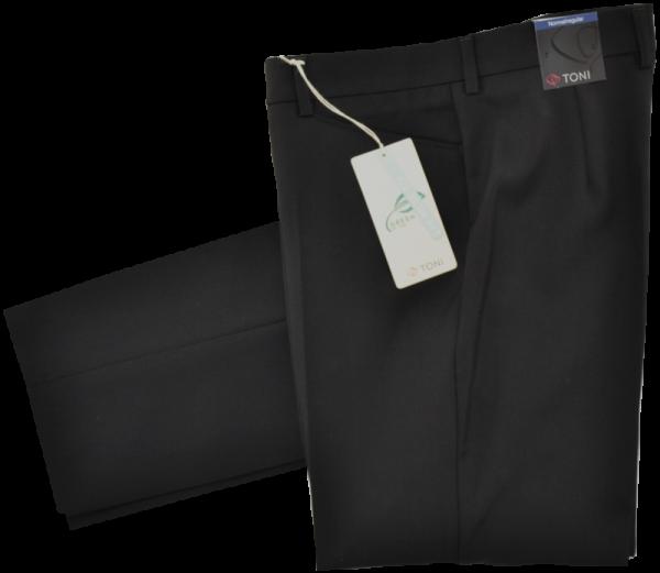 Woll Stoffhose in schwarz