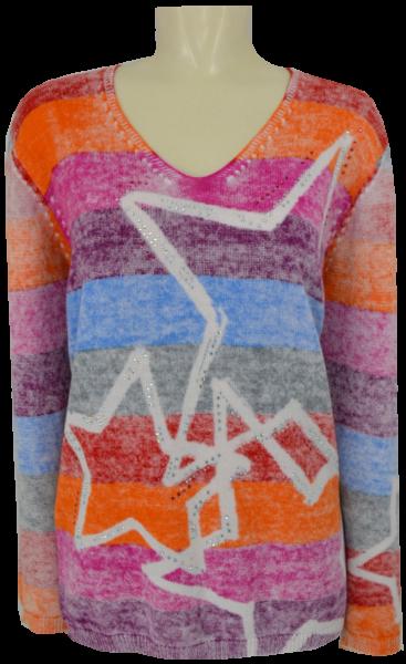 1/1 Arm Pullover in mehrfarbig gemustert