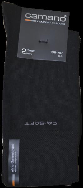 Socken in uni schwarz