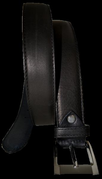 Herren Leder Gürtel strukturiert in schwarz