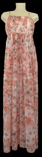 Leichtes Sommerkleid in floral orange gemustert
