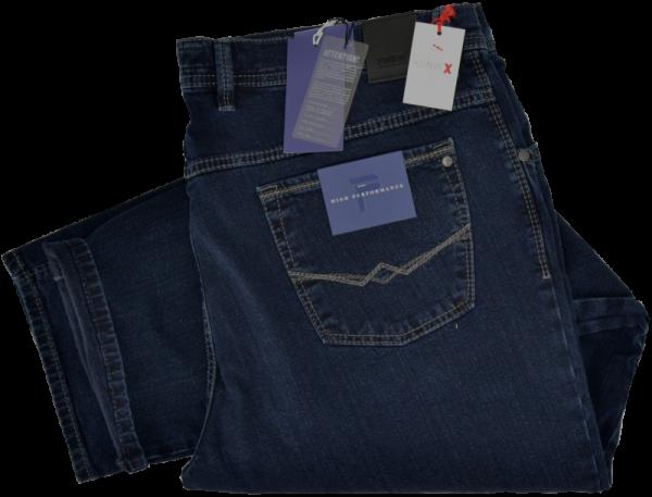Bequeme Kurzleib Jeans in dark blue