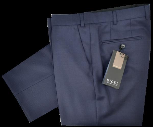Anzug Hose in dunkel Blau mit feiner körniger Struktur