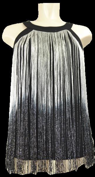 Fransen Tunica in schwarz-silber