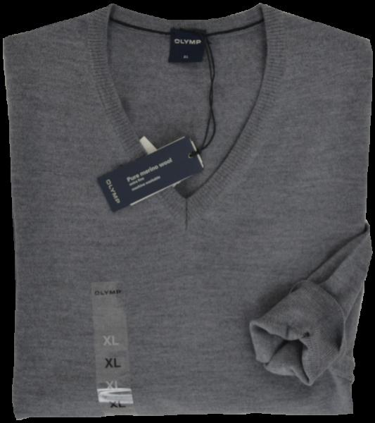 Pullover mit V-Ausschnitt in Grau-meliert