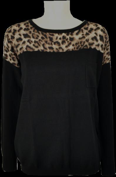 Pullover mit animal print