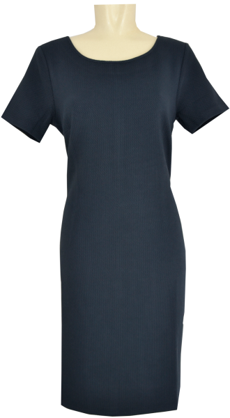 Jersey Kleid in Pikee Optik
