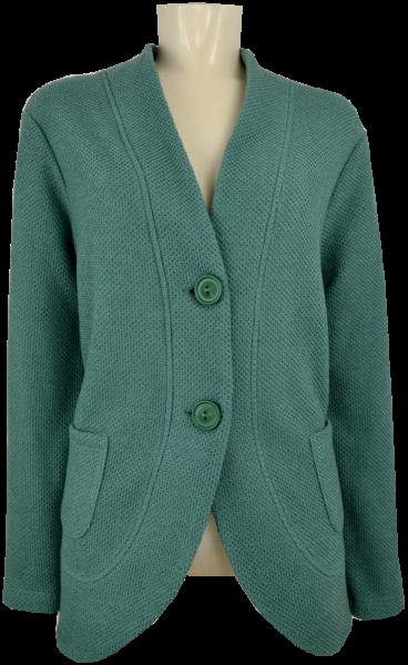 Long Strickjacke in smaragd
