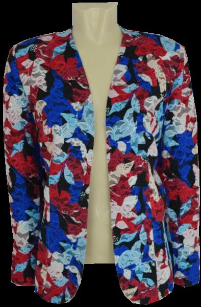 Edle Blazer-Jacke in mehrfarbig gemustert mit blau