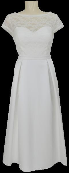 Mittellanges Brautkleid in ivory white