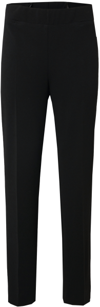 Schmal geschnittene Hose ohne Bund in schwarz