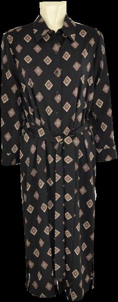 Hemdkleid in schwarz mit Print
