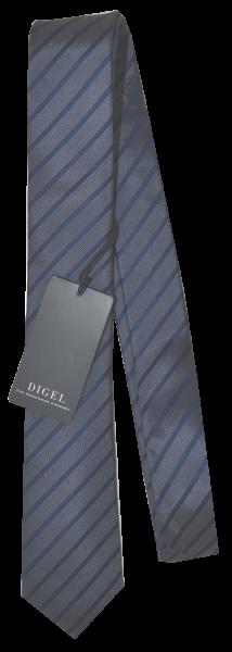 Krawatte reine Seide in dunkel Blau fein gestreift