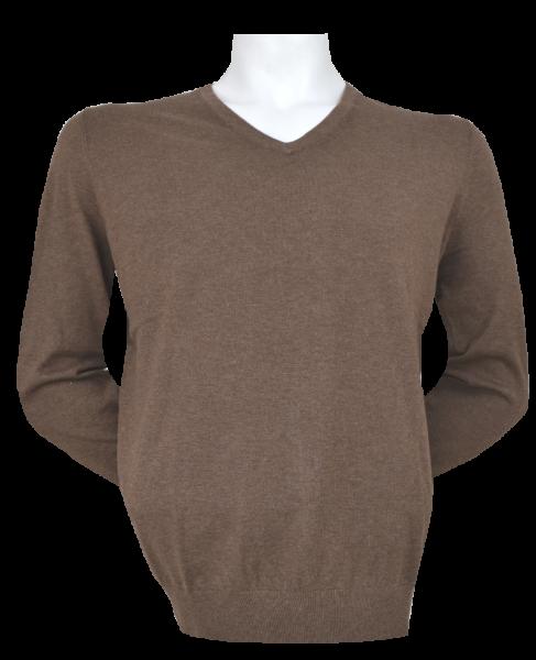 Pullover mit V-Ausschnitt in camel-braun